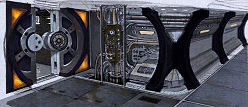 S rie stargate universe for Interieur vaisseau star wars