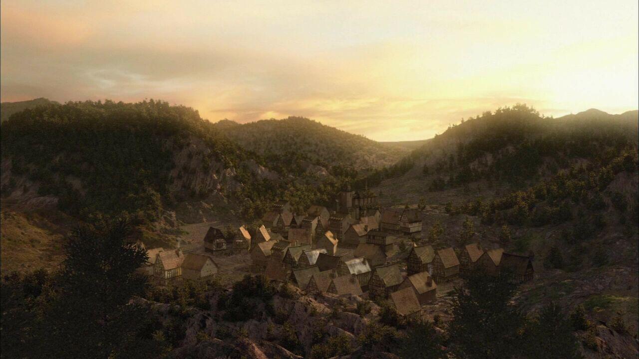 Village touché par le poison hoffan