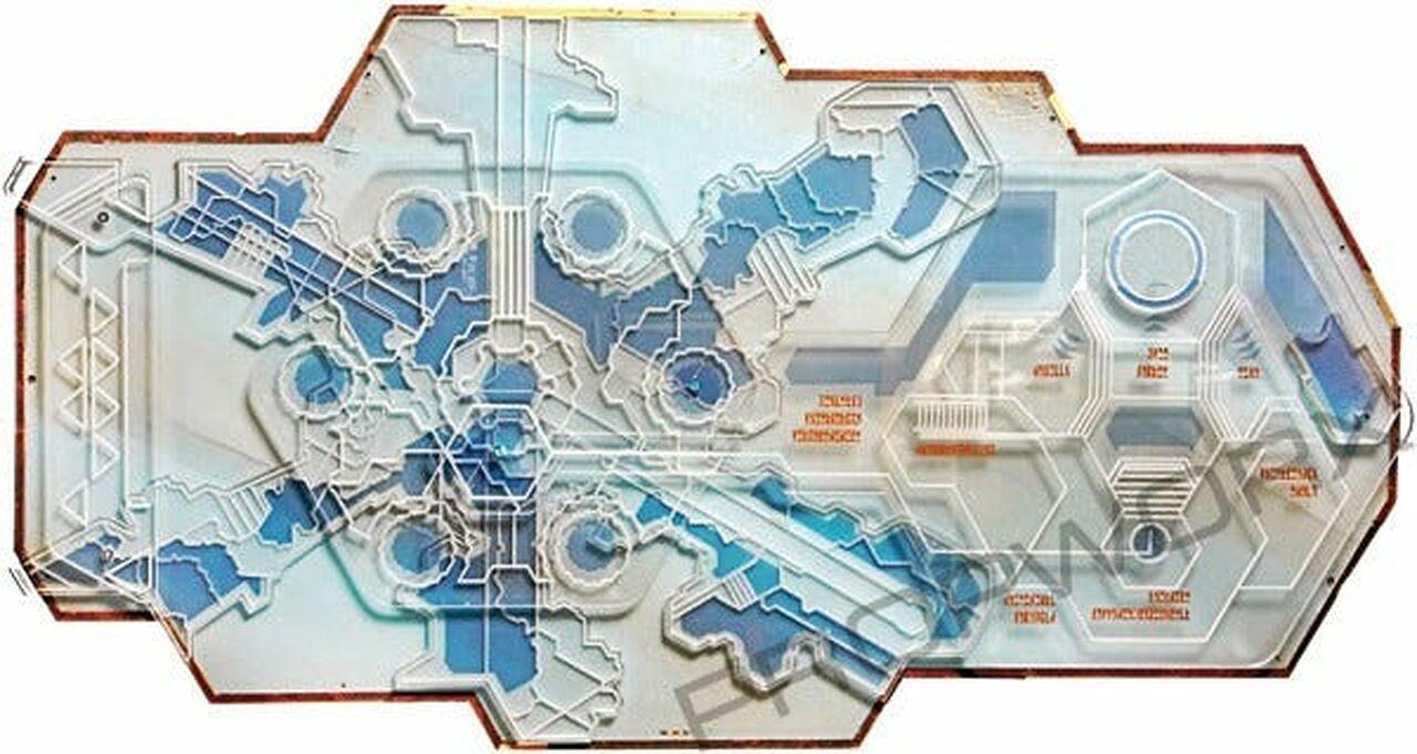 Carte de la cité d'Atlantis