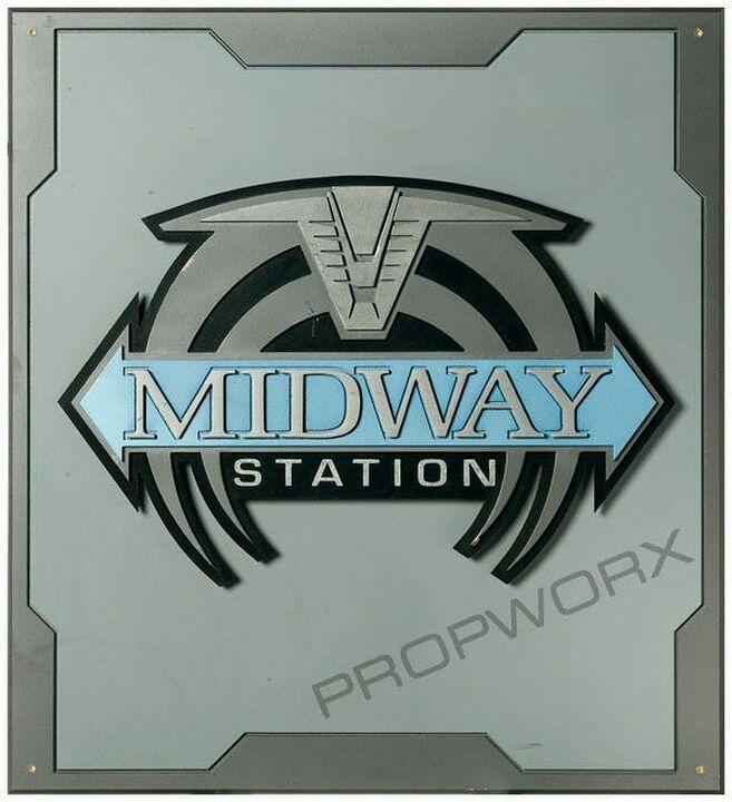 Plaque de la station Midway