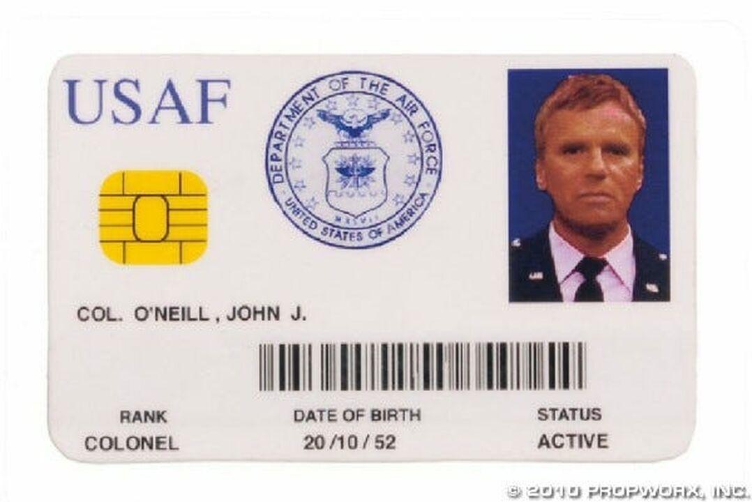 Carte d'identité du colonel O'Neill