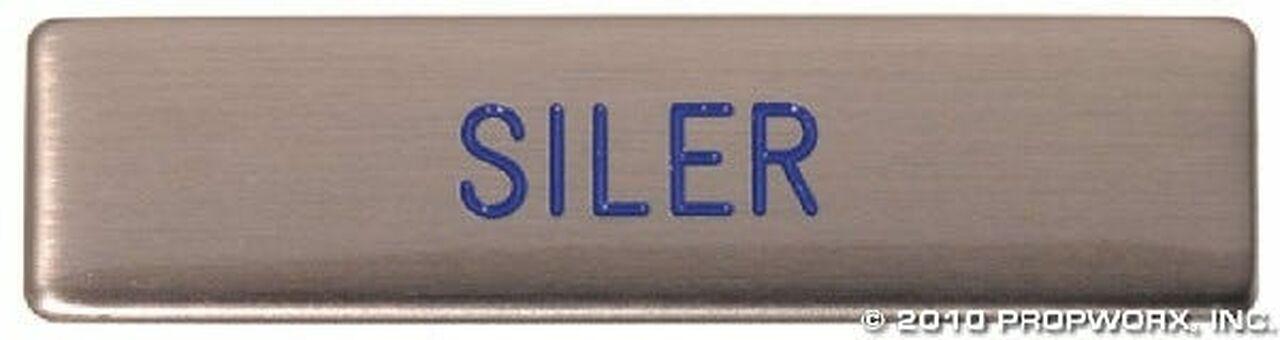 Plaque patronyme de Siler