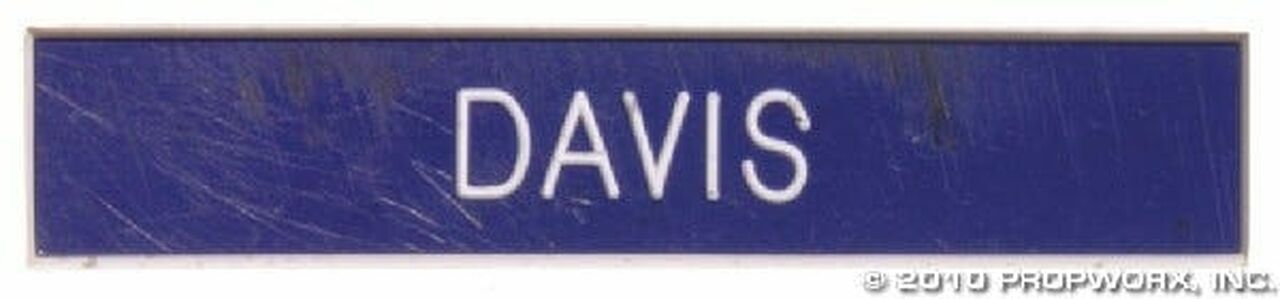 Plaque patronyme du major Davis